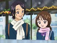 Kazuya y su compañera de clase