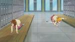 Mirai and Mayumi search for Mayumi's hair pin