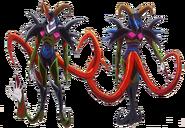 Perfiles de Kawarino en su forma monstruo