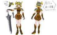 FPC movie-BD art gallery-06-Yamabuki Inori hunter outfit