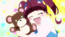 STPC10 Hikaru cuddling the bear in her imagination