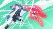 Blossom y Cobraja luchando a gran velocidad