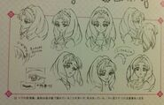 Bocetos rostros de Towa
