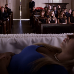 Alison at Charlotte's funeral