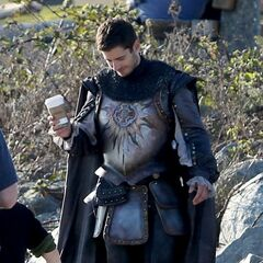 Julian as Prince Phillip on the set of Once Upon a Time