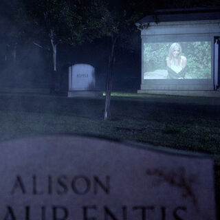 The mausoleum made a great projector screen