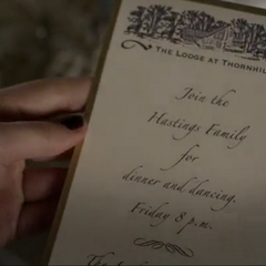 Spencer's Invitation (given to Mona, and the Liars) <br /> Melissa's Invitation (given to Jenna and Shana)