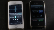 Aria's phone and caleb's phone