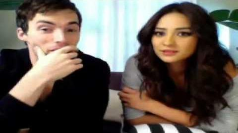 Ian Harding and Shay Mitchell Ustream after Halloween Episode