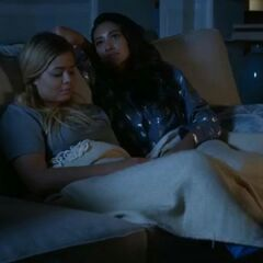 Emison sitting on the couch