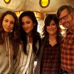 Joseph, Troian, Shay and Lindsey BTS