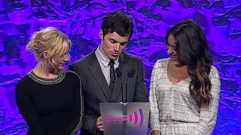 Cast of Pretty Little Liars Presents Award to Days of Our Lives at the glaadawards