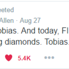 Keegan Allen confirming Toby's real name as Tobias.