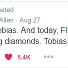 Keegan Allen confirming Toby's real name as Tobias.