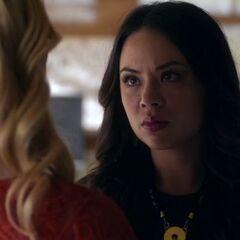 Mona glares at Alison