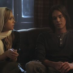 Hanna and Caleb in the Cabin
