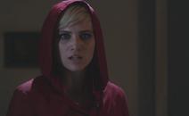 Sara harvey red coat