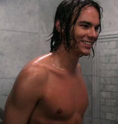 Caleb in shower