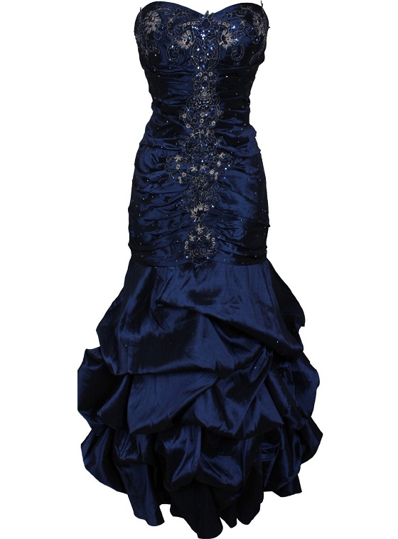 Image Navy Blue Cheap Long Plus Size Prom Dresses Cute Gownsg