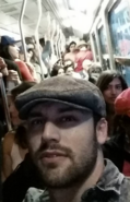 Ryan Guzman in a subway