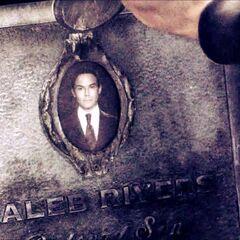Caleb's tombstone