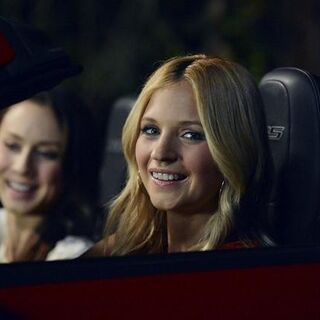Spencer and Charlotte in the car