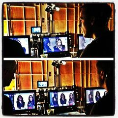 On the PLL set this morning watching @ichadlowe direct the winter premiere