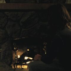 The fireplace at Spencer's cabin - looks very similar!