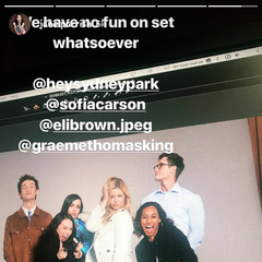 BTS of the cast doing photoshoots