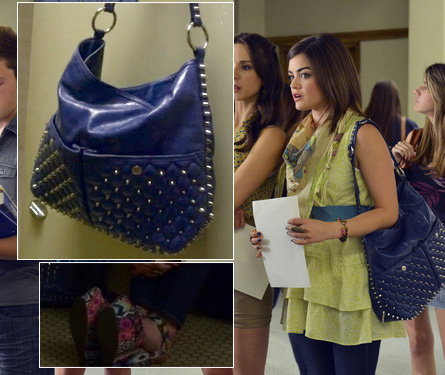 Arias Blue Studded Bag Pattern Shoes Jpg