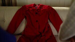 Vivian Darkbloom's red trench coat