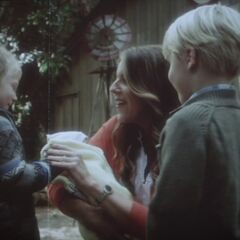 Jessica with baby Alison, Jason and Charles