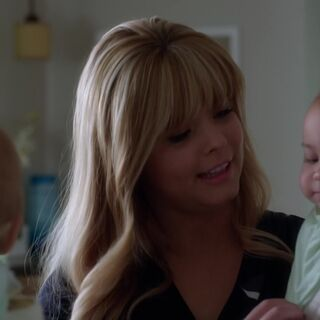 Alison holding Lily