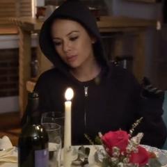 Mona eating