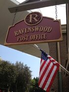 Ravenswood Post Office Sign