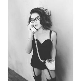 Lucy Hale BW old school