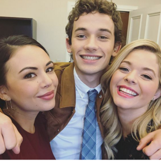 Eli with Janel Parrish and Sasha Pieterse