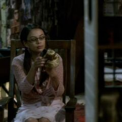 Mona playing with her Alison doll