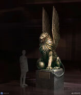 Winged Lion Statue Concept