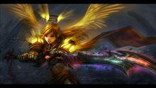 World of warcraft fantasy art armor paladin girls with swords www.wall321.com 18