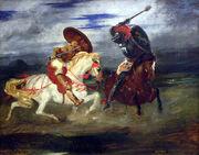 Louvre-peinture-francaise-paire-de-chevaliers-romantiques-p1020301