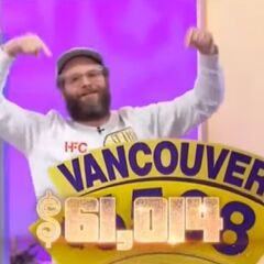 Seth Rogen has a charity total of $61,014.