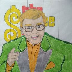 A portrait of Rod Roddy, hand-drawn by a fan
