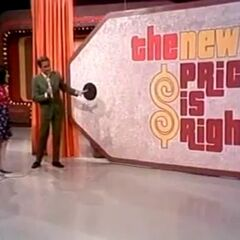 The first look of the Giant Price Tag (1972-1973), taken from the premiere, for it came with curtains.