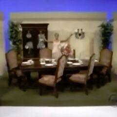 Her bonus prize: A dining room set!