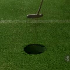 And, the contestant has also made her putt.