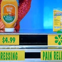 She is correct. She says the pain reliever is more than the dressing.