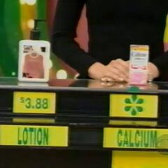 She says the Caltrate calcium supplement is more expensive than the Udderly Smooth lotion.