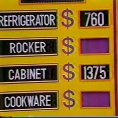 Is it the Refrigerator and the Cabinet?