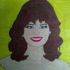a portrait of Holly Hallstrom, hand drawn by a fan
